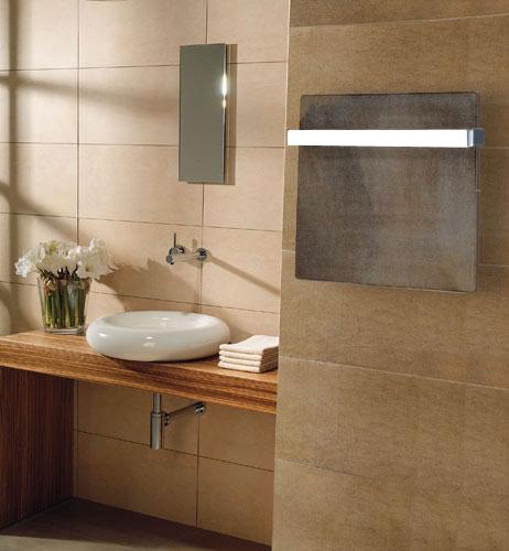 Calefactor Climastar Smart Stone Caliza Imperial cuadrado con toallero